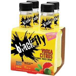 Black Fly Vodka Citrus Mixed Drink 4 B