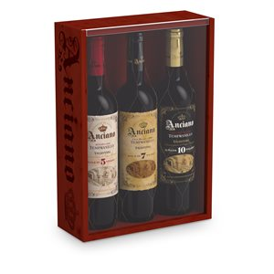 Anciano Gift Pack with 5, 7 and 10 Year 750 ml