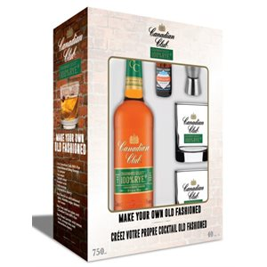 Canadian Club 100% Rye Old Fashioned Gift Pack 750ml