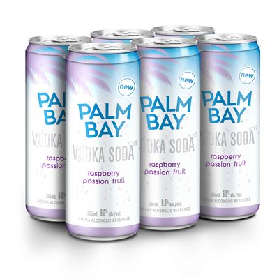 Palm Bay Raspberry Passionfruit Vodka Soda 6 C