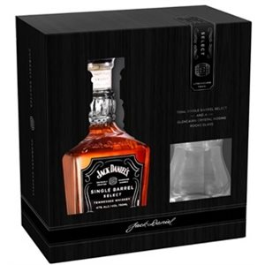 Jack Daniels Single Barrel with Nosing Glass 750ml