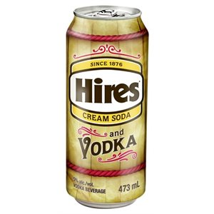 Hires Cream Soda and Vodka 473ml