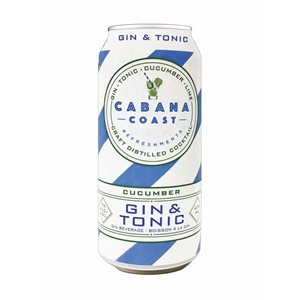 Cabana Coast Cucumber Gin and Tonic 473ml