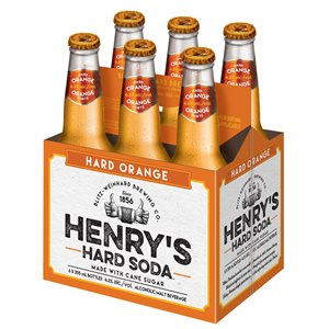 Henry's Hard Soda Orange 6 B